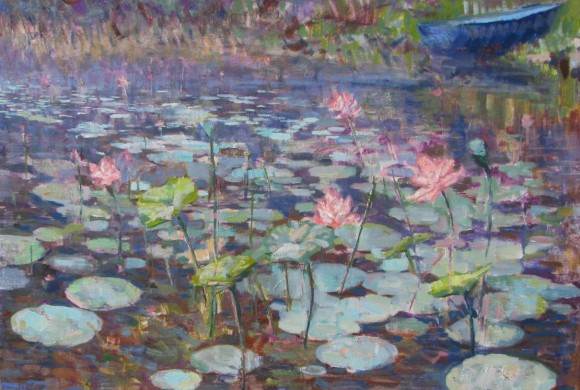 Lotus and Lilies 22×28″