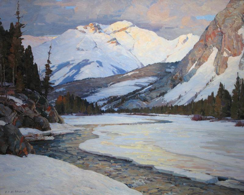 """Canadian Rockies, Banff, Alberta, Aldro Hibbard 40x50"""""""