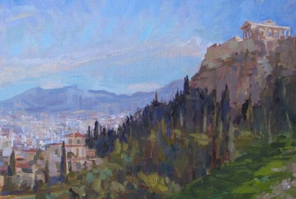 Acropolis from Areopagus 11×14″