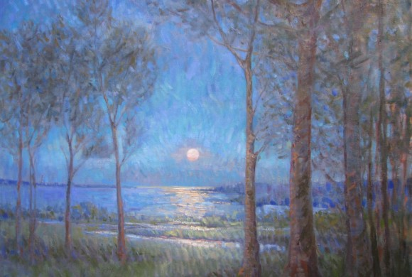 Summer Moonrise, Cape Ann 36×42″