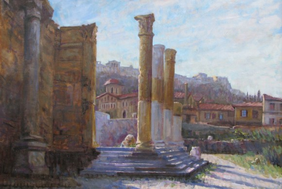 Hadrian's Library 35×47″