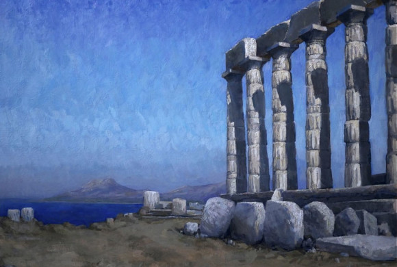 Morning at Sounion, 35×47″