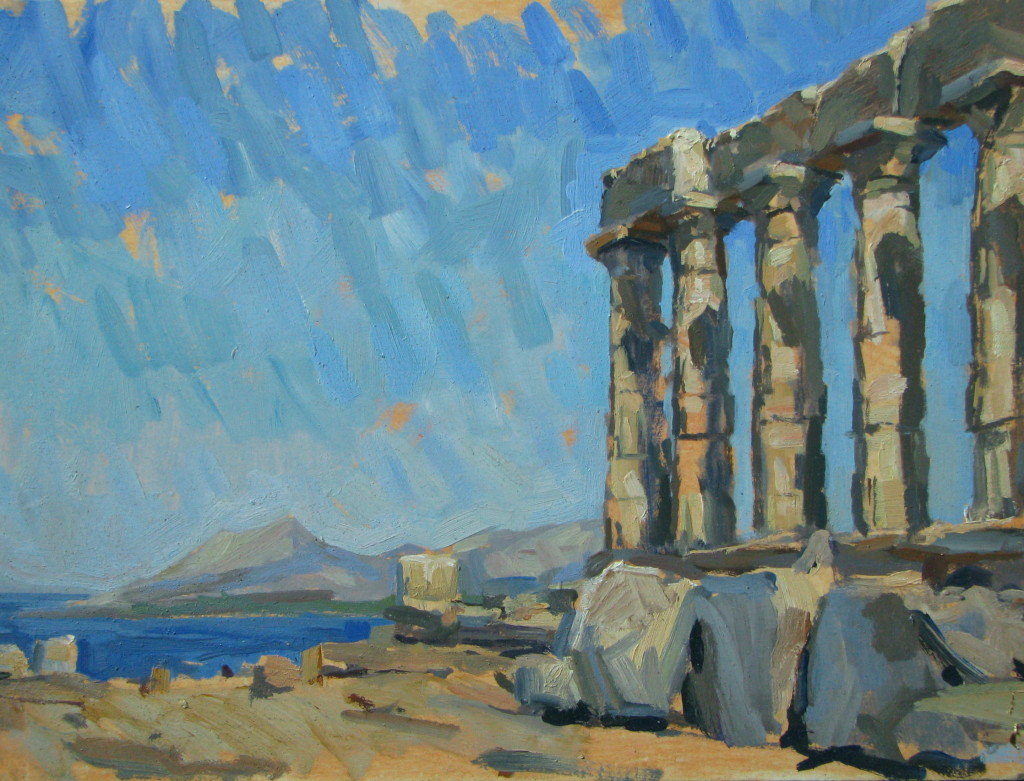 Sounio, morning 30x40