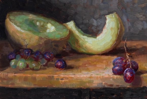 Honeydew and Grapes