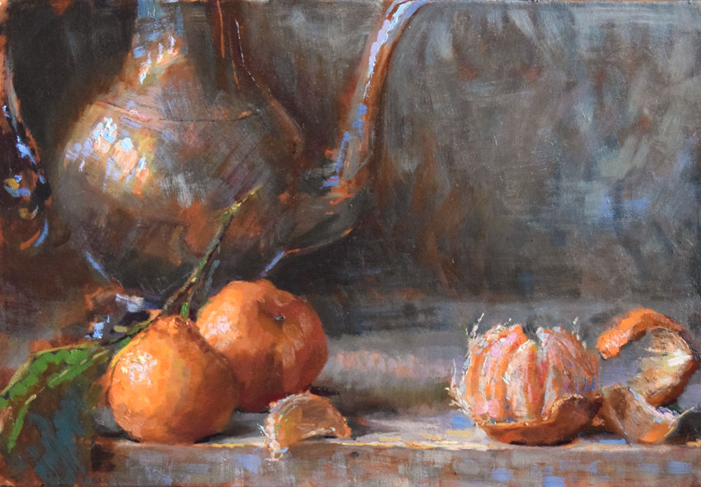 Satsuma-Mandarins-25x35-oil-on-linen-panel