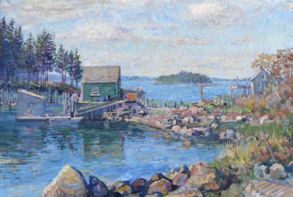 Lobster Pound, Stonington 22×28″