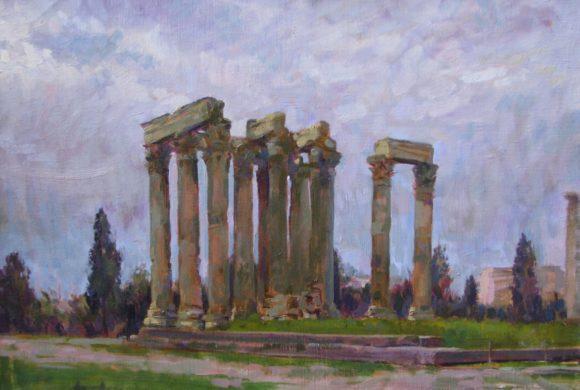 Temple of Olympian Zeus 16×20″