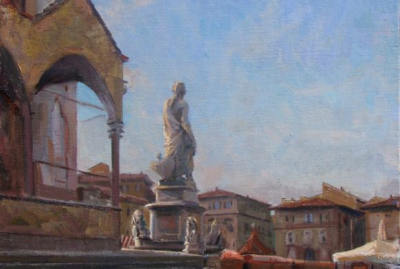 Santa Croce, Winter Market 24×20″