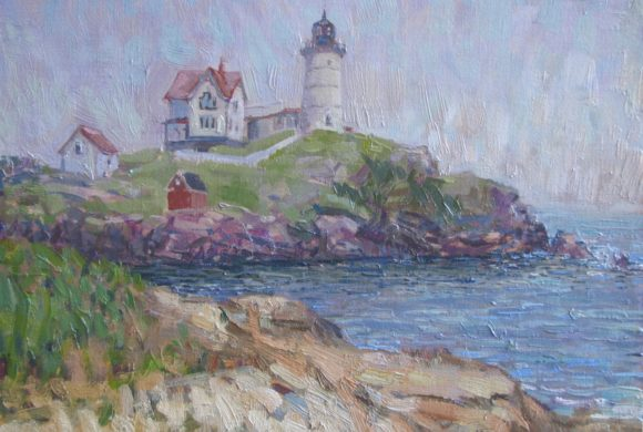 Nubble Light Hazy