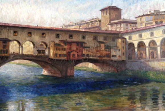 Ponte Vecchio Backlit 36×48″