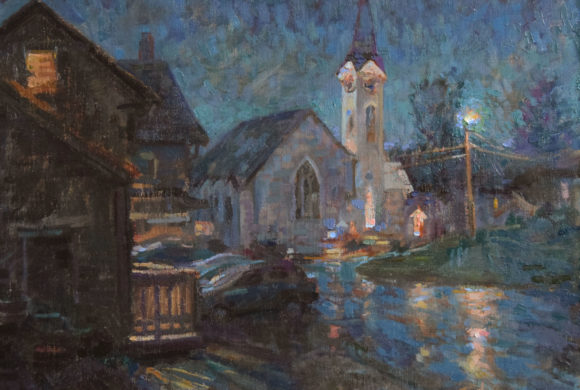 Jeffersonville Nocturne 16×19″