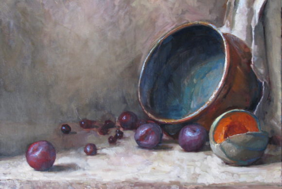 Melon and Plums 20×24″
